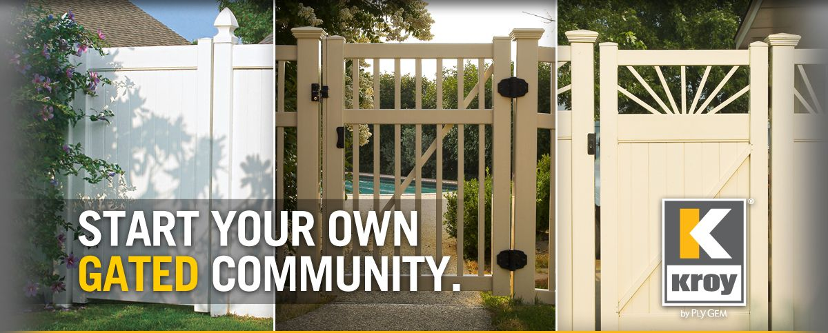 All About Vinyl Fencing Gates House Landscape Fencing Gates Ply Gem