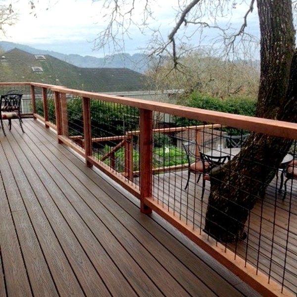 Best Welded Mesh Level Rail Panels By Wild Hog Railing Deck 400 x 300
