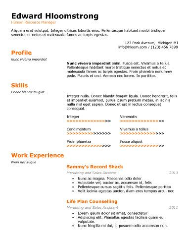 Technical Special Resume Template Resume Templates and Samples - ats resume