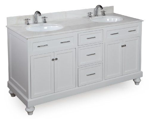 Amelia 60-inch Bathroom Vanity (White/White) Includes a White