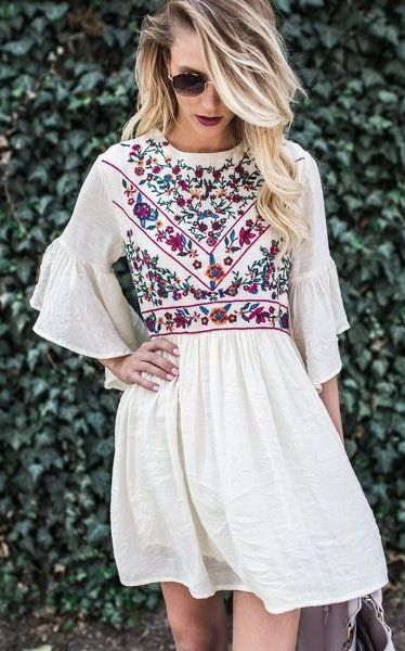 562fafb2d2ae summer outfits Boho Soul Embroidered Dress | Bohemian Style | Chic ...