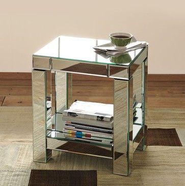 Parsons Mirror End Table   Modern   Bar Tables   West Elm