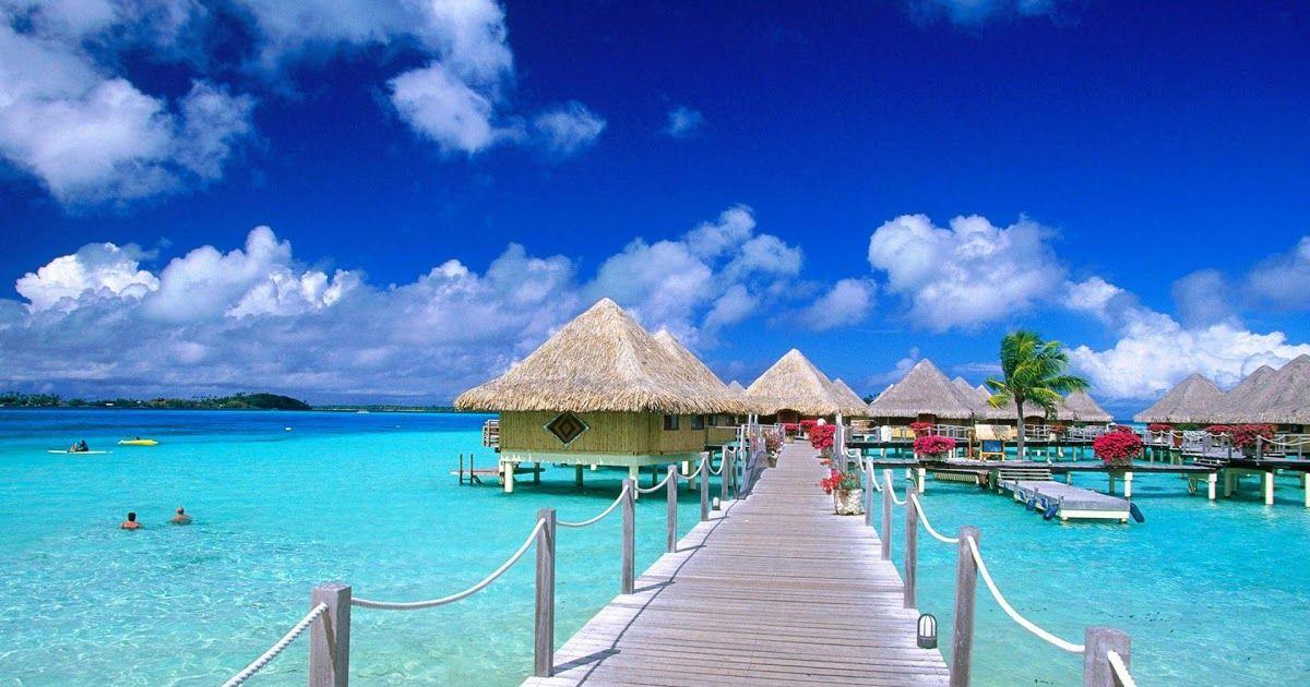 Terpopuler 30 Download Gambar Pemandangan Pantai Hd Tahiti Bora Bora French Polynesia Bungalows Wooden Hooks Download Di 2020 Pemandangan Pantai Fotografi Pantai
