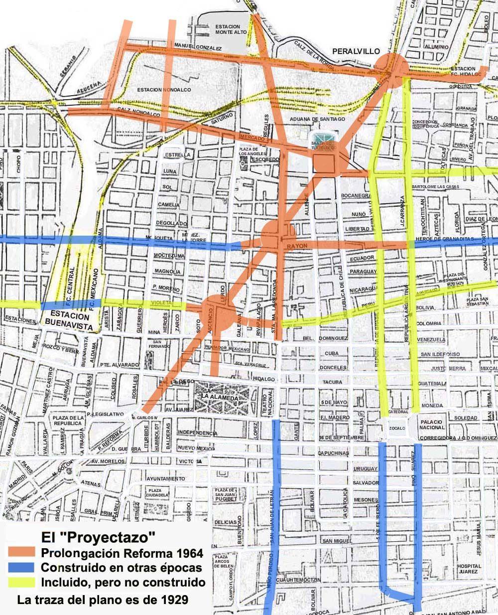 Plano De La Zona Centro De La Ciudad De M Xico Que Muestra