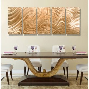 New contemporary abstract metal wall decor in light copper large decorative modern art also rh pinterest