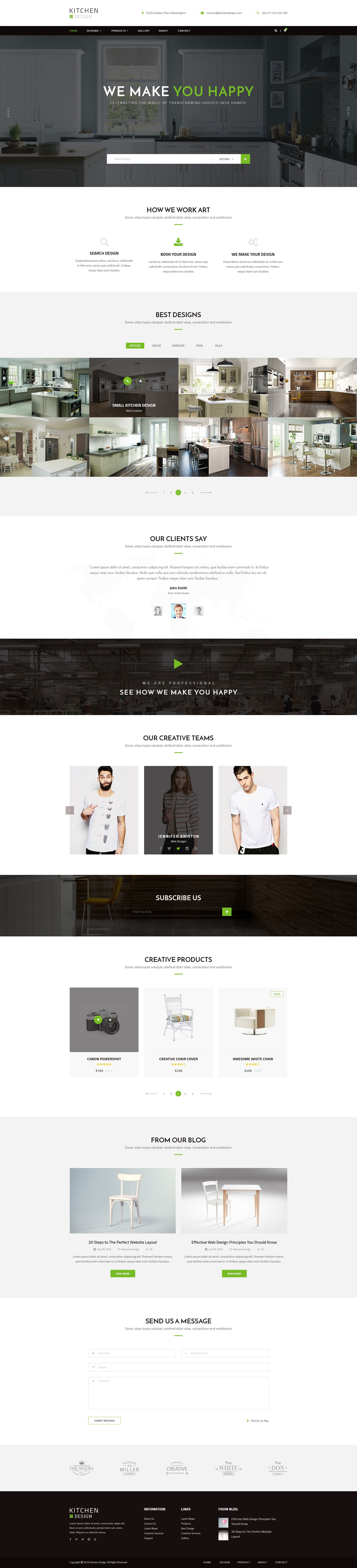 Kitchen   PSD Template   Psd templates, Interior design website ...