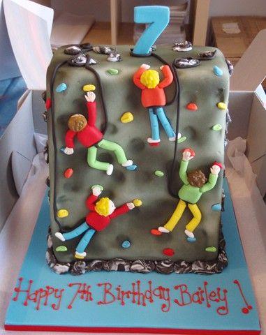 Rock Wall Cake Rock Climbing Cake Cake Designs Birthday