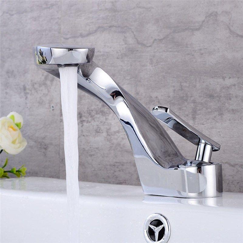 Waschtischarmatur Einhebelmischer Twist Design Aus Messing Waschtischarmatur Moderne Waschbecken Messing