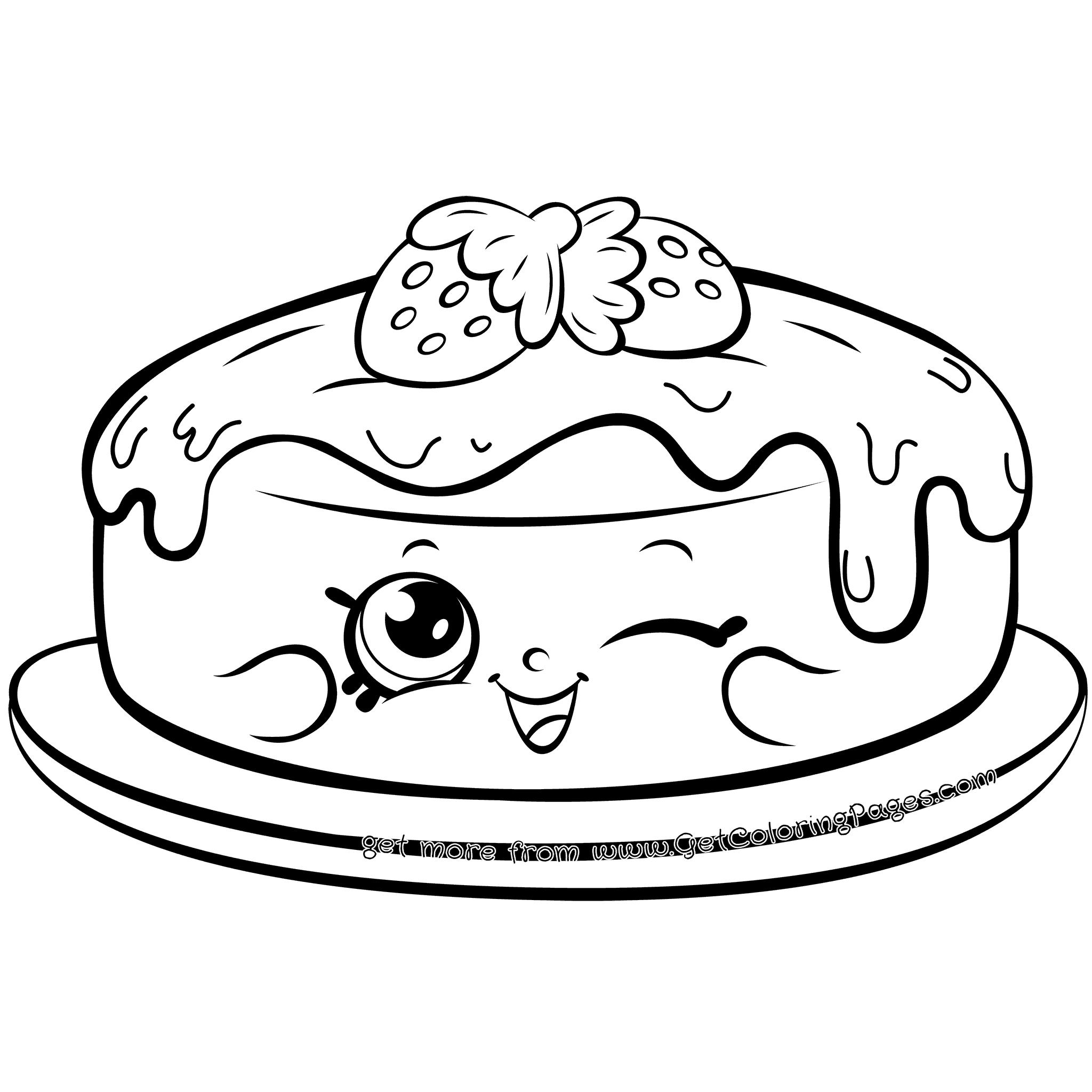 Shopkins 7 Shopkins Cake Fran Pancake Coloring Page