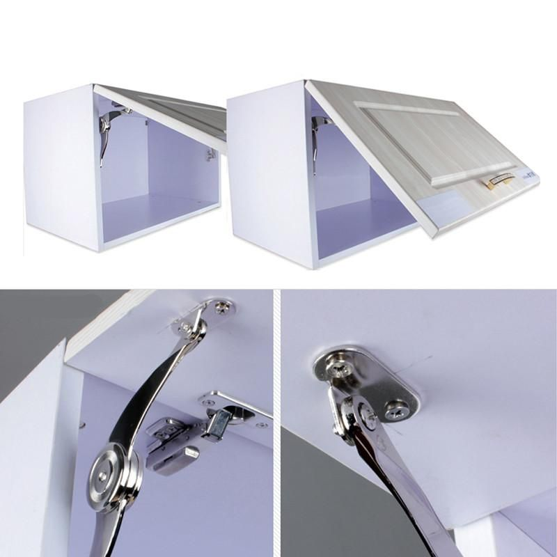 Hot Cabinet Cupboard Door Hinges Furniture Lift Up Strut Lid Flap Stay  Support Hinge High Quality