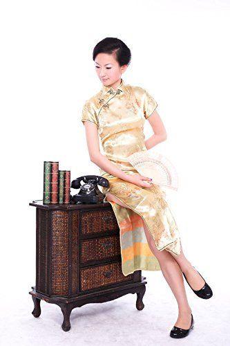 Handgemachte chinesische modische Retro-Stil Frauen Cheongsam Kleid Cheongsam Kleid