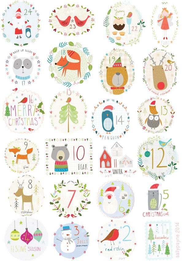 advent2014-sallypayne14 Noël Pinterest Advent calendars and Xmas