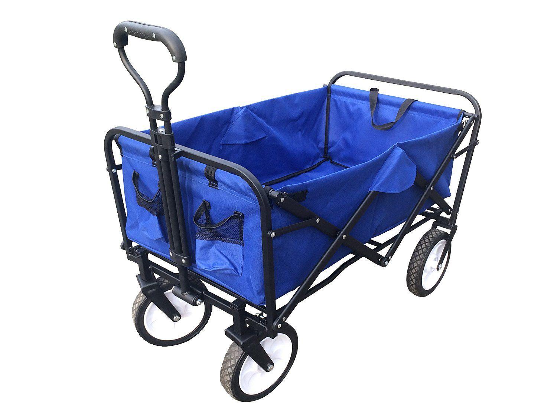 Amazon.com : ABO Gear Collapsible Folding Utility Wagon Garden Cart  Shopping Buggy Yard Beach