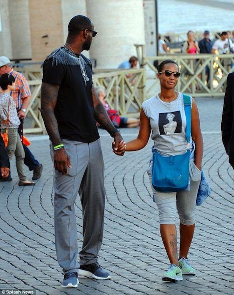 LeBron James and Savannah Brinson Enjoy