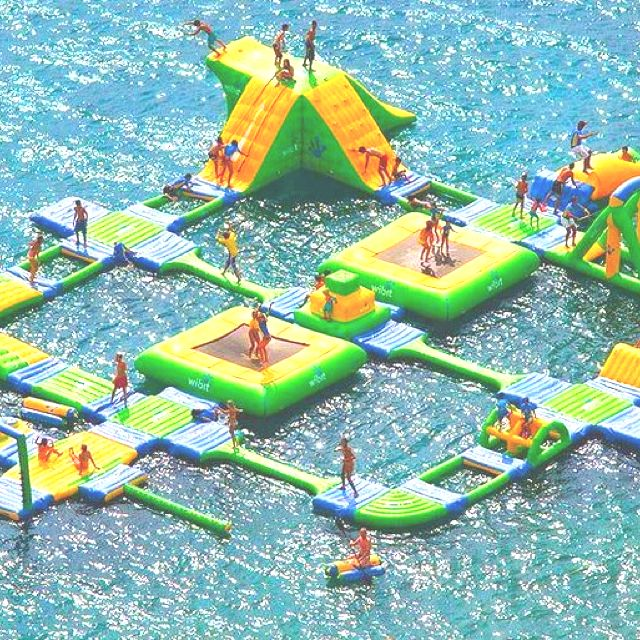 I want this | Inflatable water park, Water playground ...