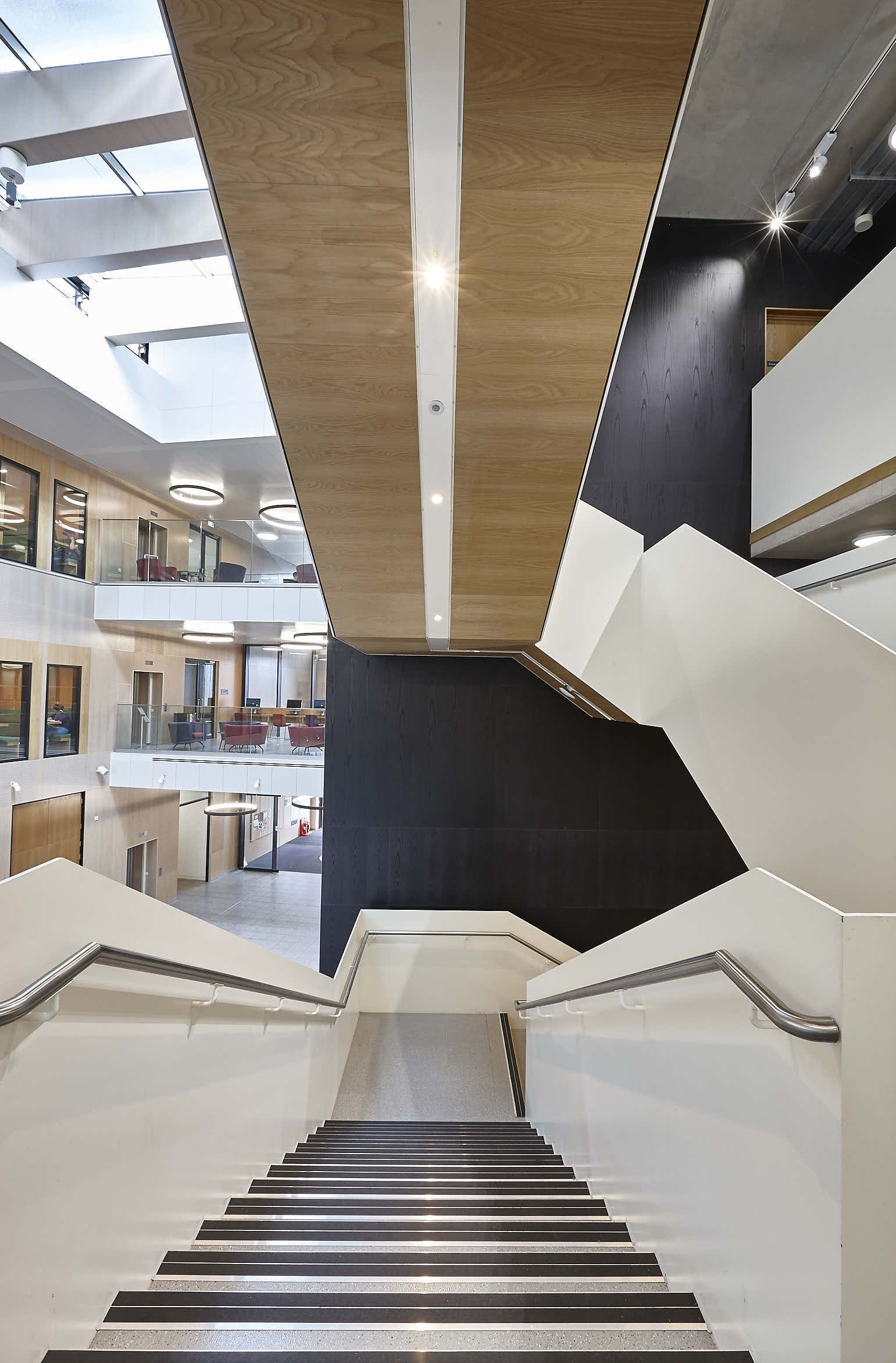 Wood Paneled Library: Wooden Panels Contribute To BREEAM Excellent At Royal