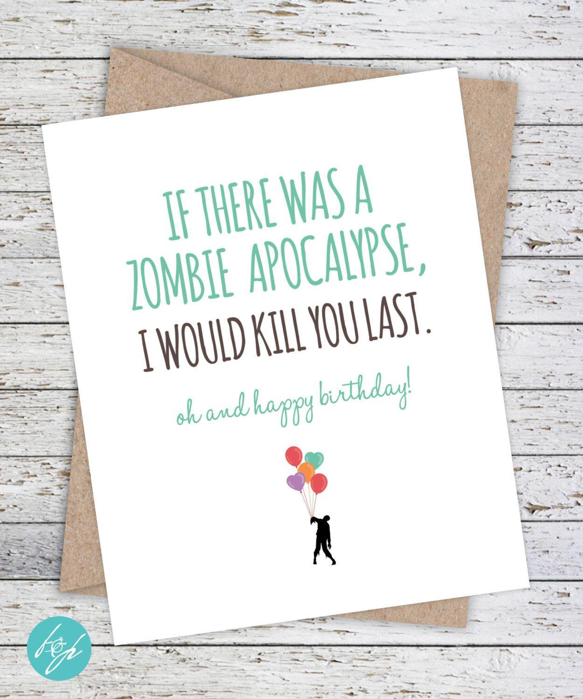 Boyfriend Card Funny Birthday Card, Quirky Snarky Greeting