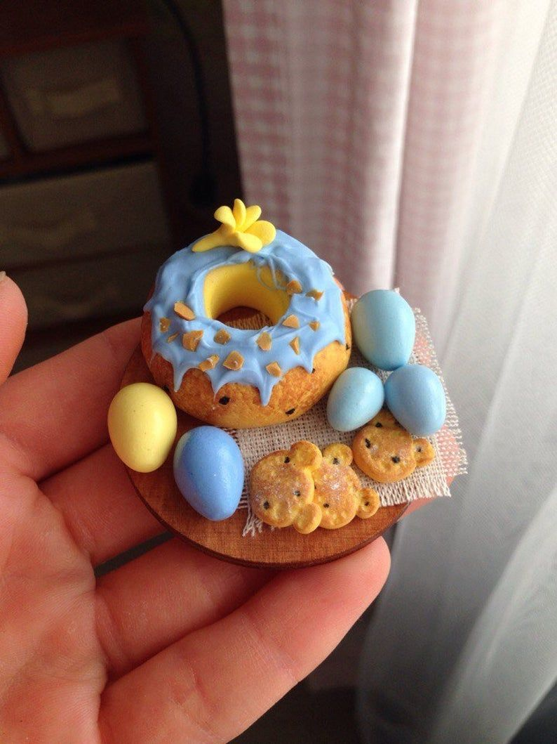 1pc miniature easter food easter decoration polymer clay
