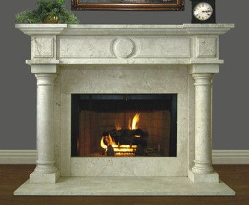 Nuevo Redondo 305 Hand Carved Natural Stone Fireplace Mantel