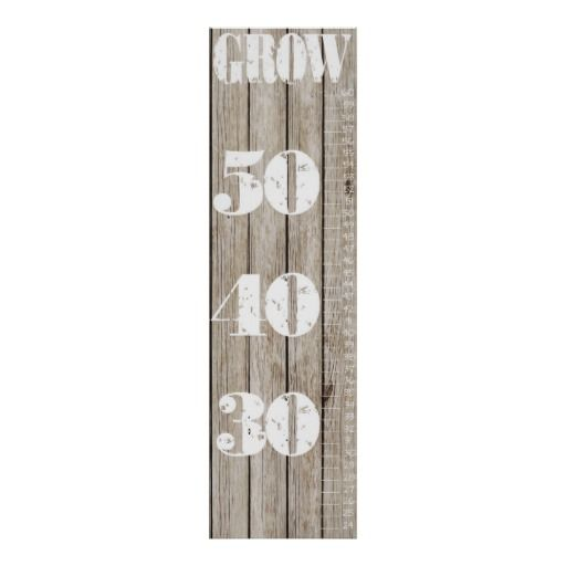 Growth Chart Poster Rustic Wood - may 19