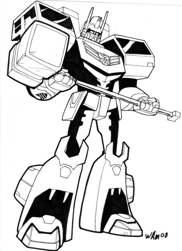 animated ultra magnus by beamer on DeviantArt LineArt - new coloring pages for rescue bots
