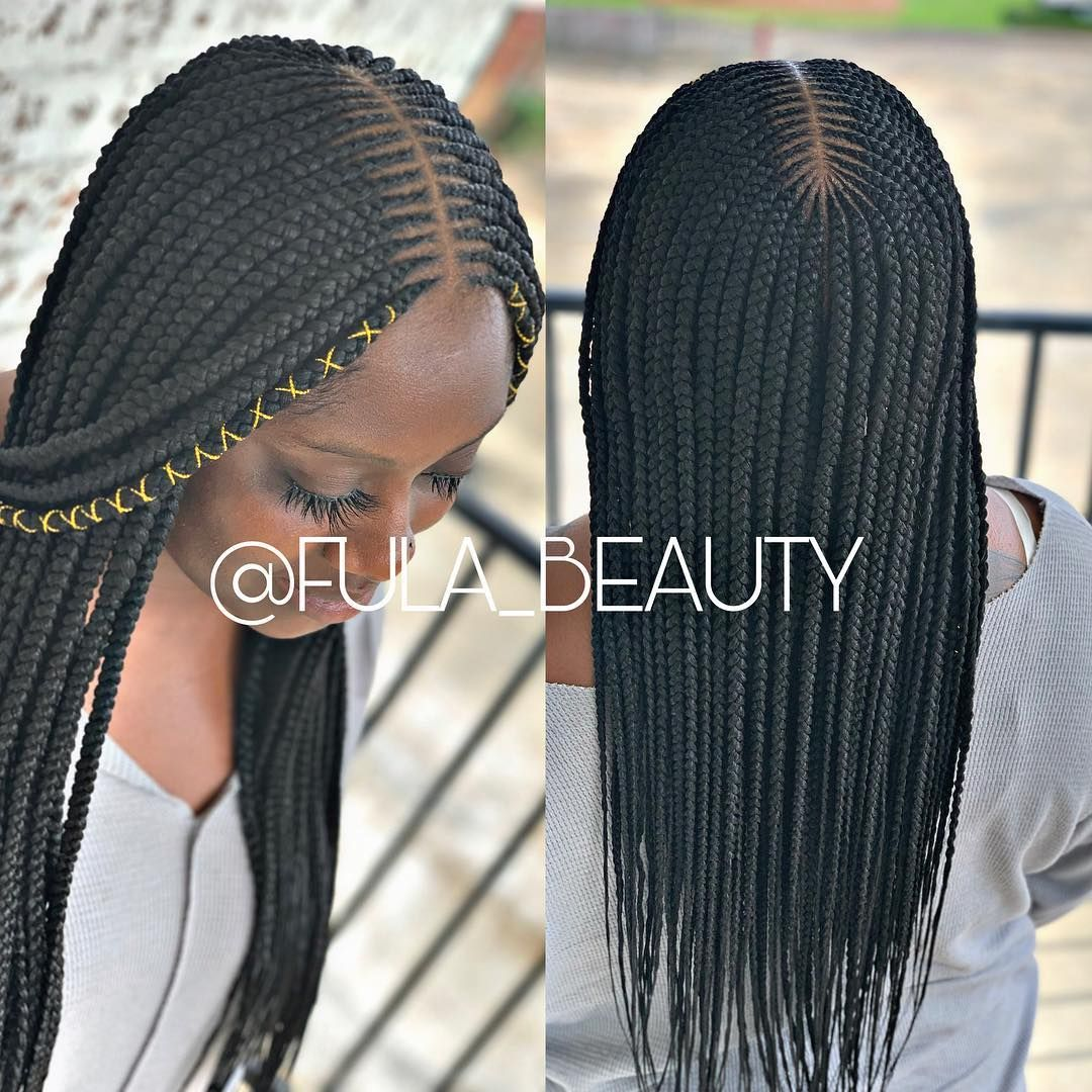 Cornrow Hairstyles Part Down Middle Part