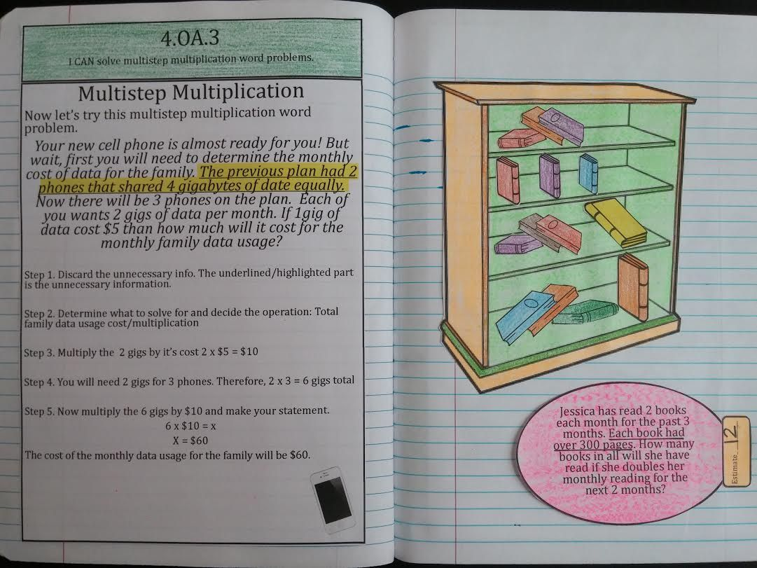 Interactive Notebook Operations And Algebraic Thinking