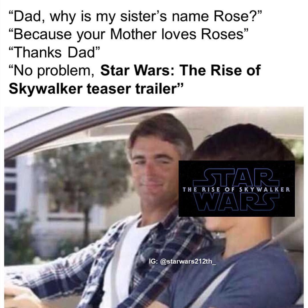 Star Wars Star Wars Memes Funny Star Wars Rise Of Skywalker Episode Ix Star Wars Humor Star Wars Memes Star Wars Song