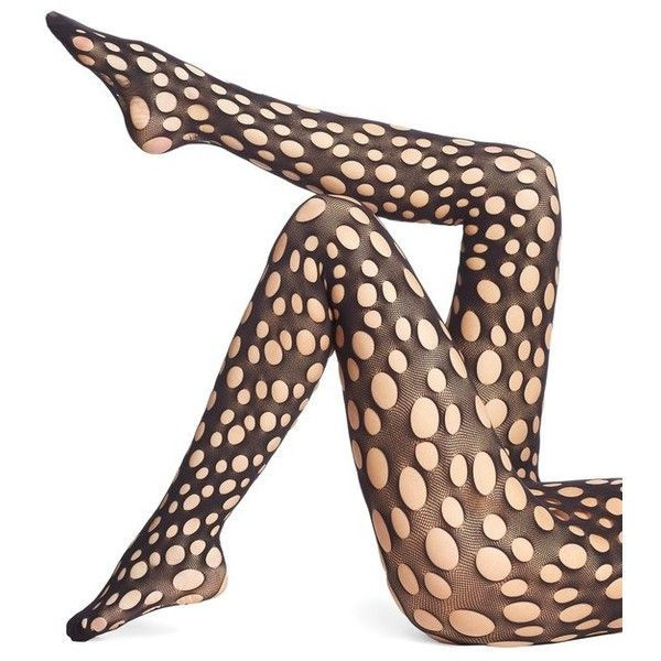 Wolford Patti Fishnet Cutout Tights ($67) ❤ liked on Polyvore featuring intimates, hosiery, tights, black, fishnet tights, cut out tights, wolford tights, wolford and fishnet stockings