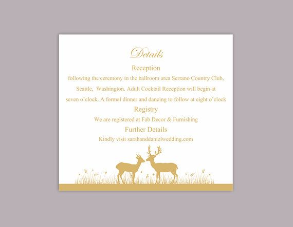 DIY Wedding Details Card Template Download Printable Wedding Details
