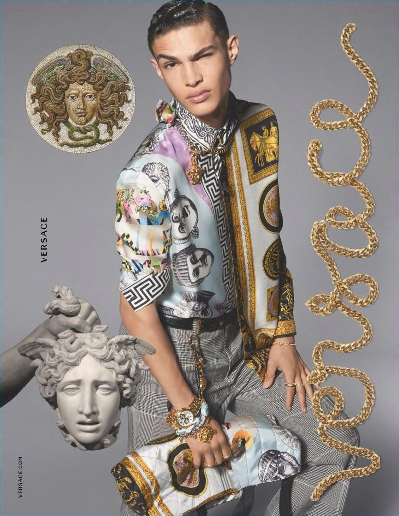 652a77afe377 VERSACE Mens Spring Summer 2018 ad campaign photographed by STEVEN MEISEL  featuring Noah Luis Brown
