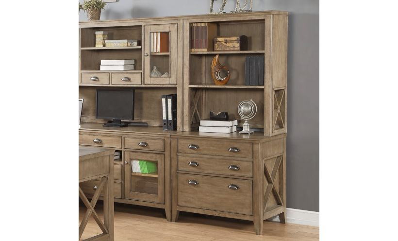 Camden Lateral File Cabinet And Bookcase Hutch