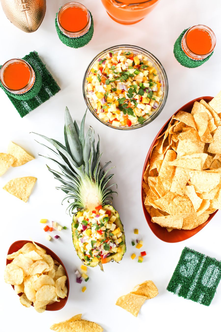 Spicy Pineapple Mango Salsa #partybudgeting