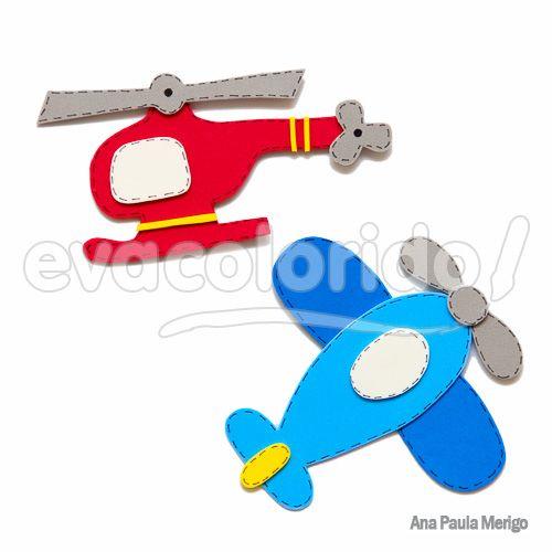 molde 077 aplique helicóptero e avião cute 1 homemade baby