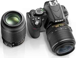 Nikon D3100 14 2mp Digital Slr Camera With 18 55mm Vr 55 200mm Vr Dx Zoom Lenses And 3 Inch Lcd Screen Black Zoom Lens Digital Slr Camera Slr Camera