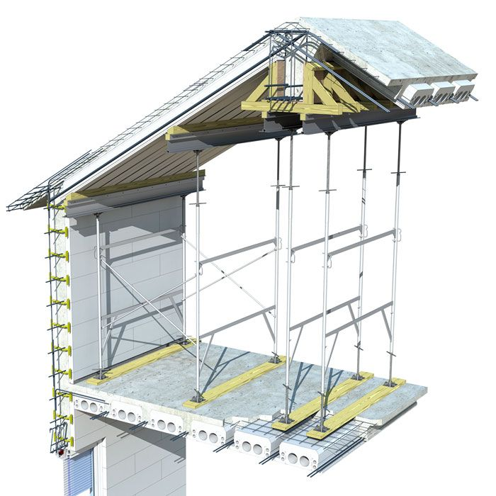 Insul Deck Insulated Concrete Forms For Floors Roofs Resilient Insulated Roofs With Concrete Insulated Concrete Forms Roof Construction Concrete Roof