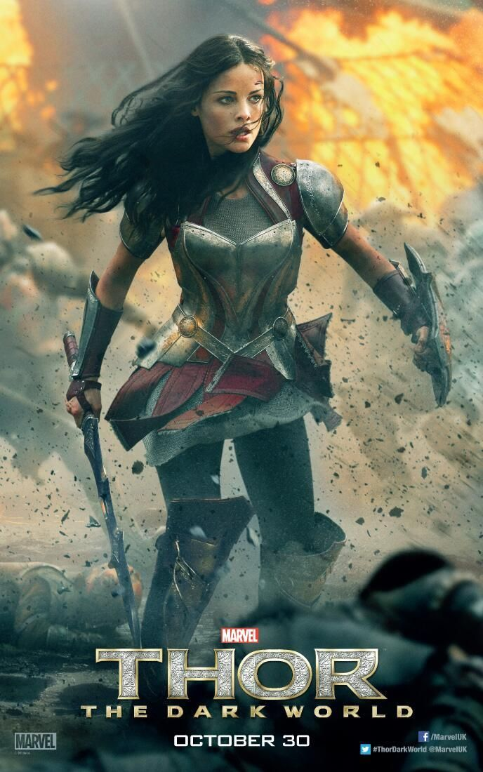 Thor The Dark World Character Posters For Lady Sif And Jane