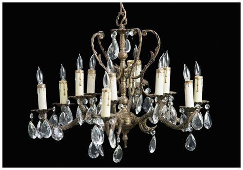 Archive Rentals   Vintage Rentals Antique Brass & Cut Crystal