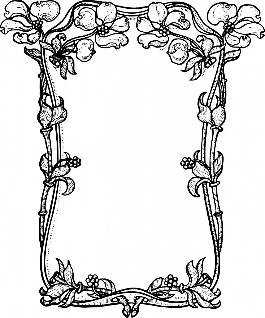 Stock Images Dogwood Flower Frame Clip Art & Vector