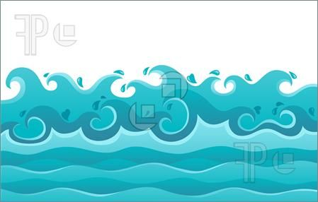 Waterscapes Waves Theme Image 6 Vector Illustration Beach Drawing Waves Ocean Art