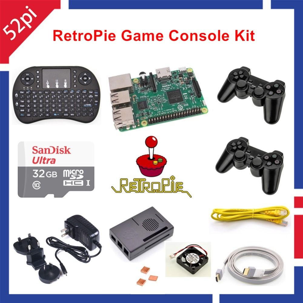 32GB RetroPie Game Kit with Raspberry Pi 3 Model B Wireless