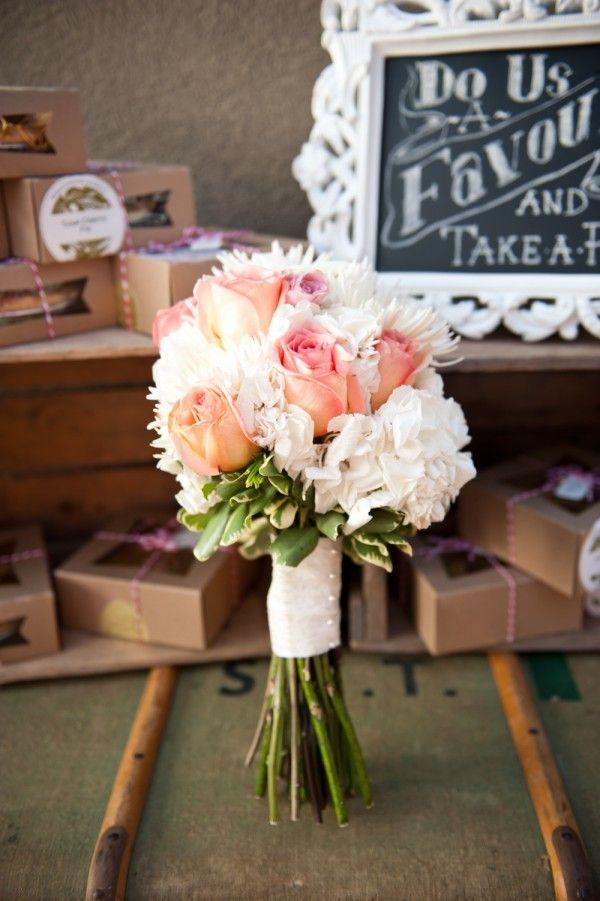 romantic vintage wedding bouquet