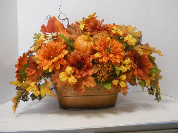 Silk sunflower arrangement pinteres fall silk flower arrangement floral table centerpiece mightylinksfo Gallery
