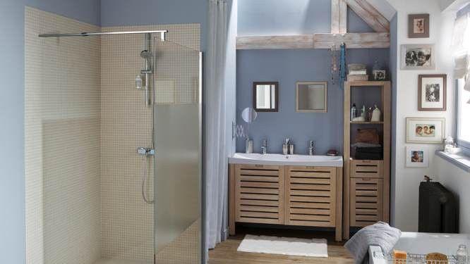 Le bleu  couleur idéale de la salle de bains