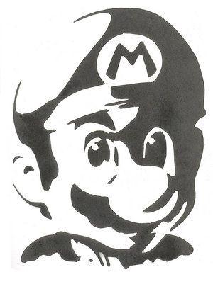 Mario Stencil Diy Silhouette Art Art Stencils