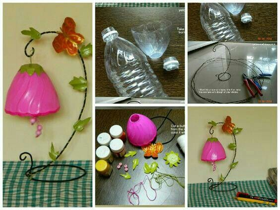 Plastic Bottle Crafts Bottles Simple Craft Ideas New Pet Work Recycled Crafting