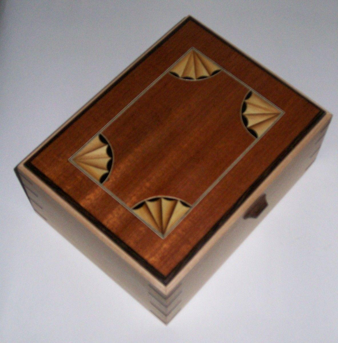 Tea Box Fan Inlay Reader S Gallery Fine Woodworking