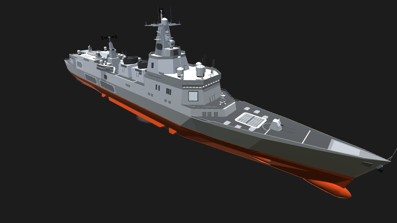SimplePlanes Legion class nuclear powered cruiser (FIXED