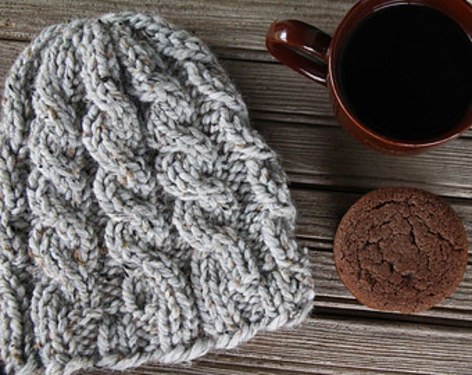 34a4cd975b8 Womens Hat Knitting Pattern - CURIOSITY - Cable Knit Hat Pattern - a set of  INSTRUCTIONS to knit the hat