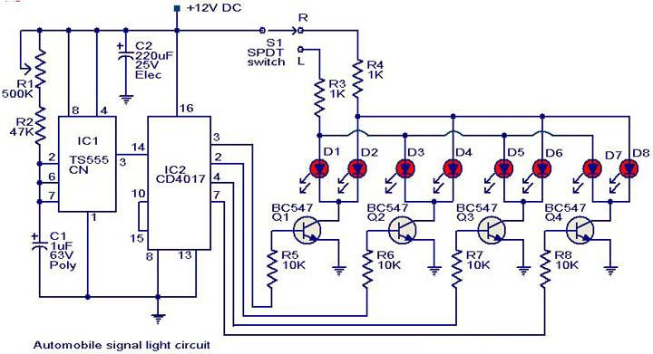 Automobile Turn Signal Light Circuit Diagram Circuit Diagram Circuit Electronics Circuit